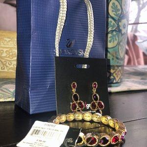 Matching Swarovski bracelet & earring set